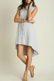 Umgee USA Button Shirt Dress - Product Mini Image