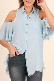 Umgee USA Button-Up Chambray Top - Product Mini Image