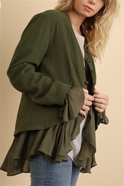 Umgee USA Button Up Jacket - Front full body