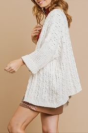 Umgee USA Cable Knit Cardigan - Side cropped
