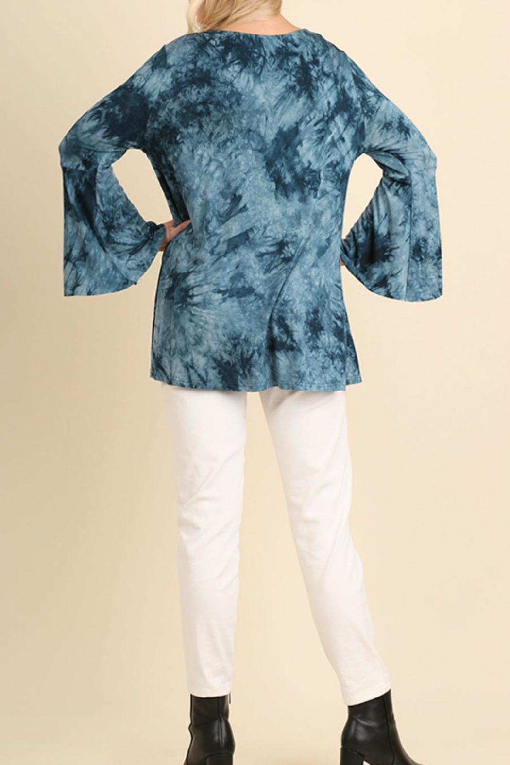 Umgee USA Cage-Front Tie-Dye Tunic - Front Full Image