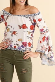 Umgee USA Off The Shoulder Floral Top - Product Mini Image