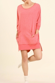 Umgee USA Casual Pockets Tunic Dress - Front cropped
