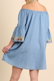 Umgee USA Embroidered Chambray Dress - Other