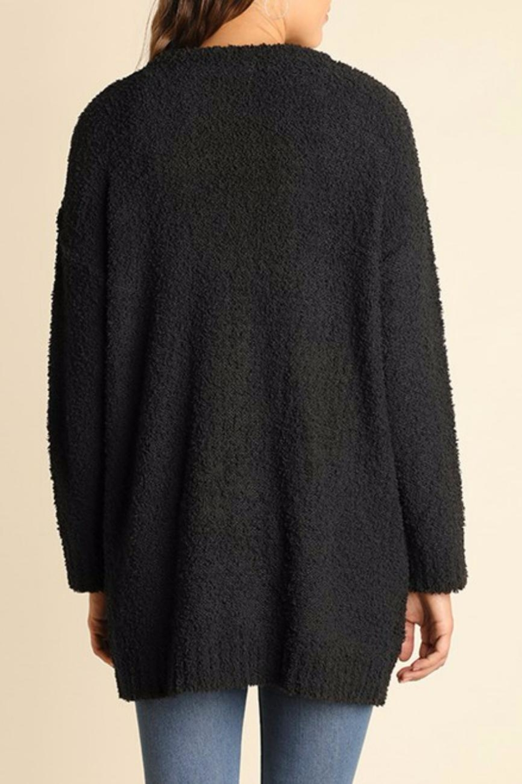 Umgee USA Charcoal Boucle Cardigan - Front Full Image