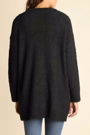 Umgee USA Charcoal Boucle Cardigan - Front full body