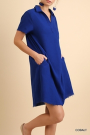 Umgee USA Cobalt Blue Dress - Front cropped