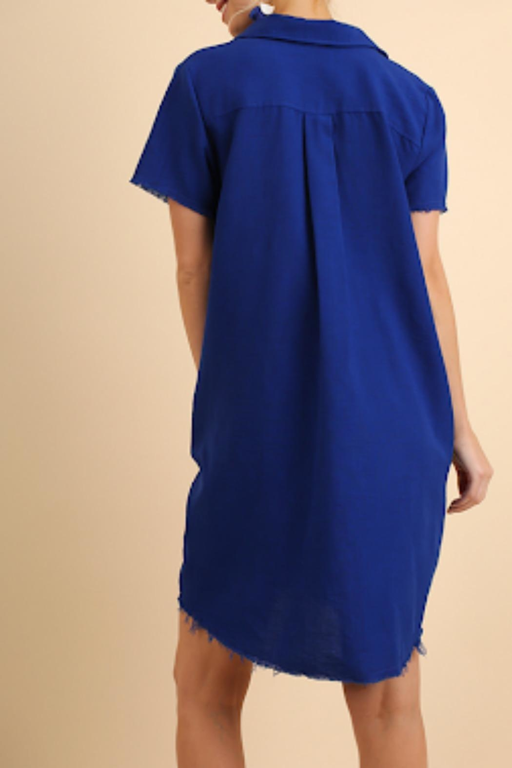 Umgee USA Cobalt Blue Dress - Front Full Image