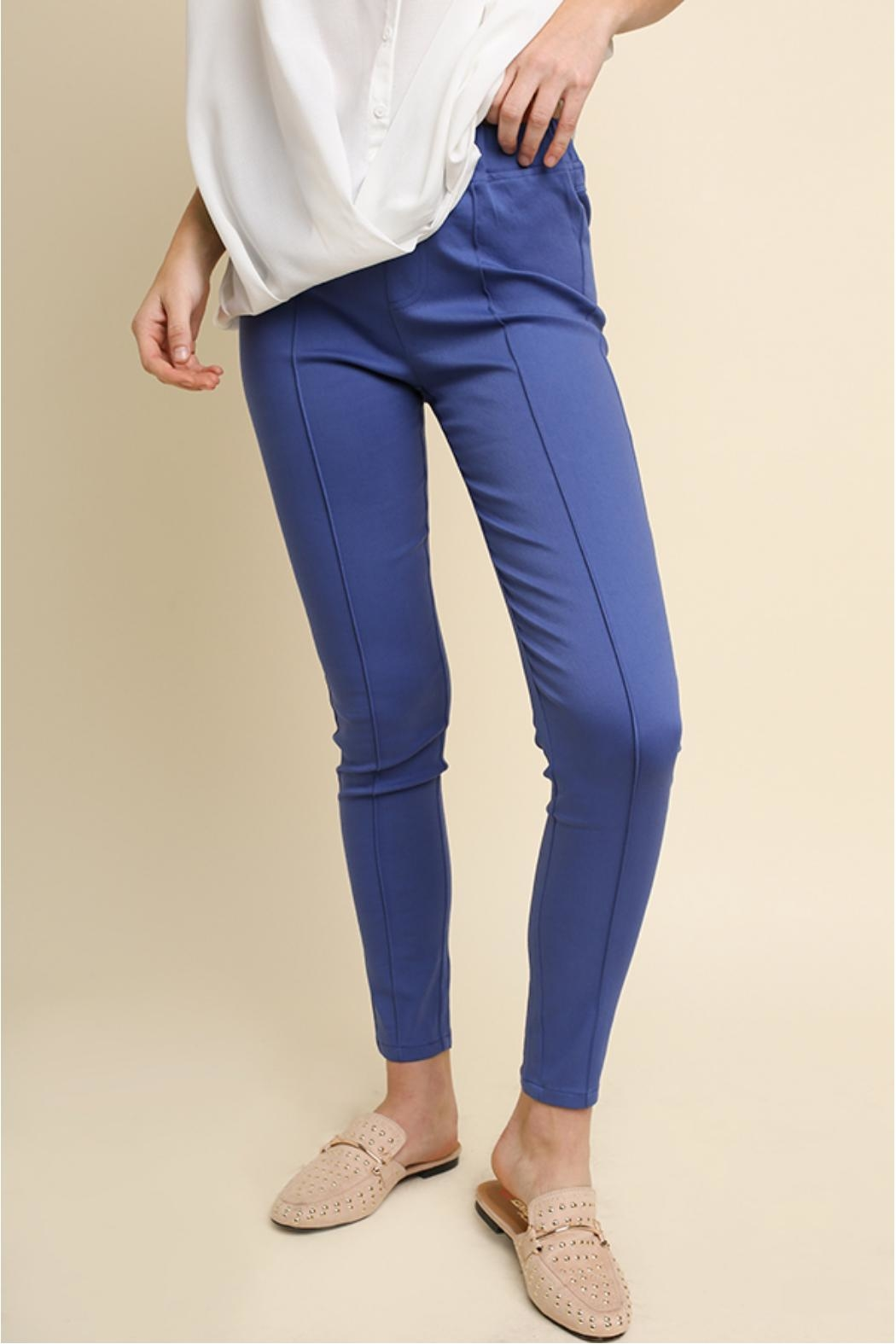 Umgee USA Cobalt Blue Leggings - Front Cropped Image