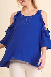 Umgee USA Cold Shoulder Blouse - Product Mini Image