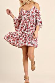 Umgee USA Cold Shoulder Dress - Product Mini Image