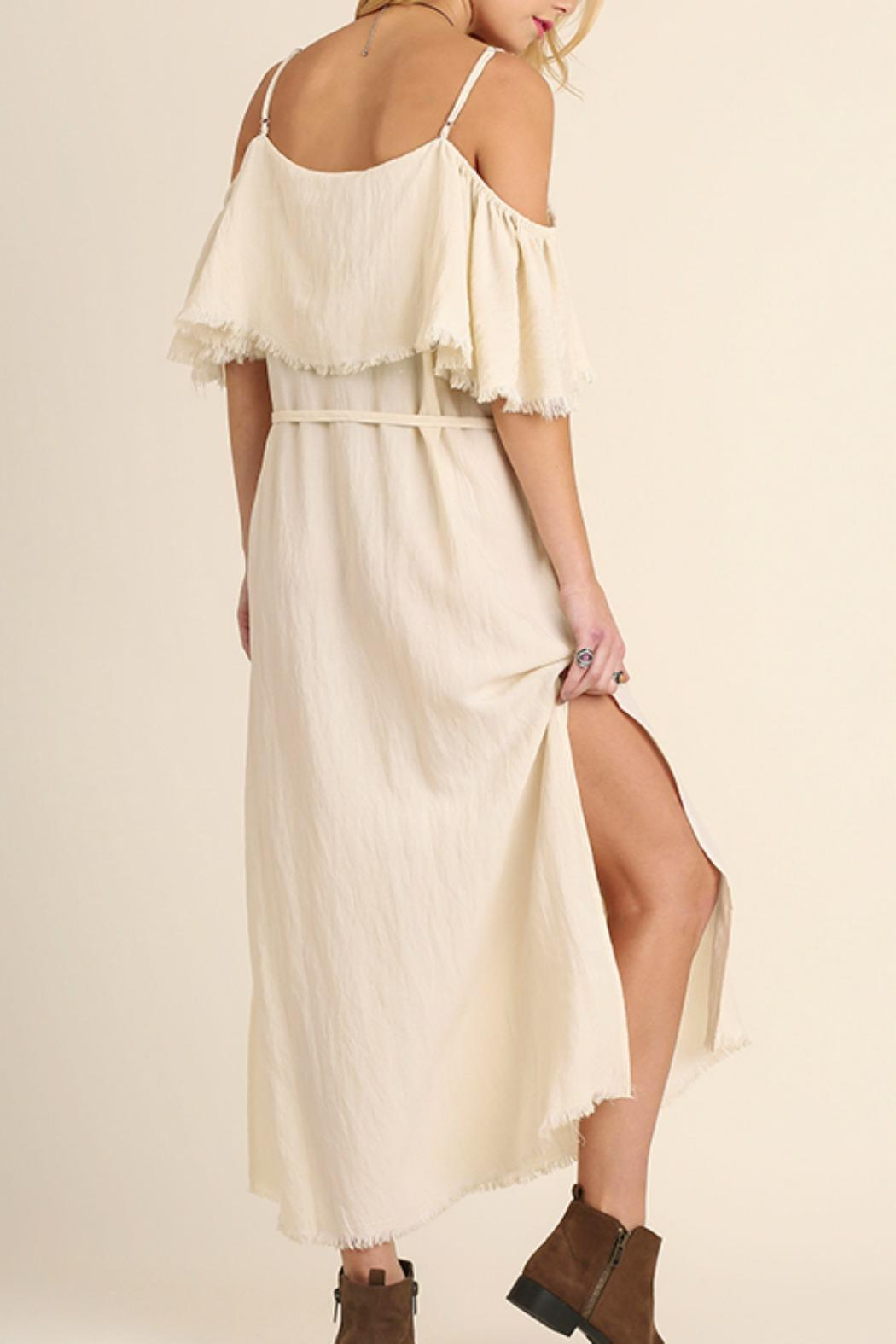 Umgee USA Cold Shoulder Maxi - Side Cropped Image