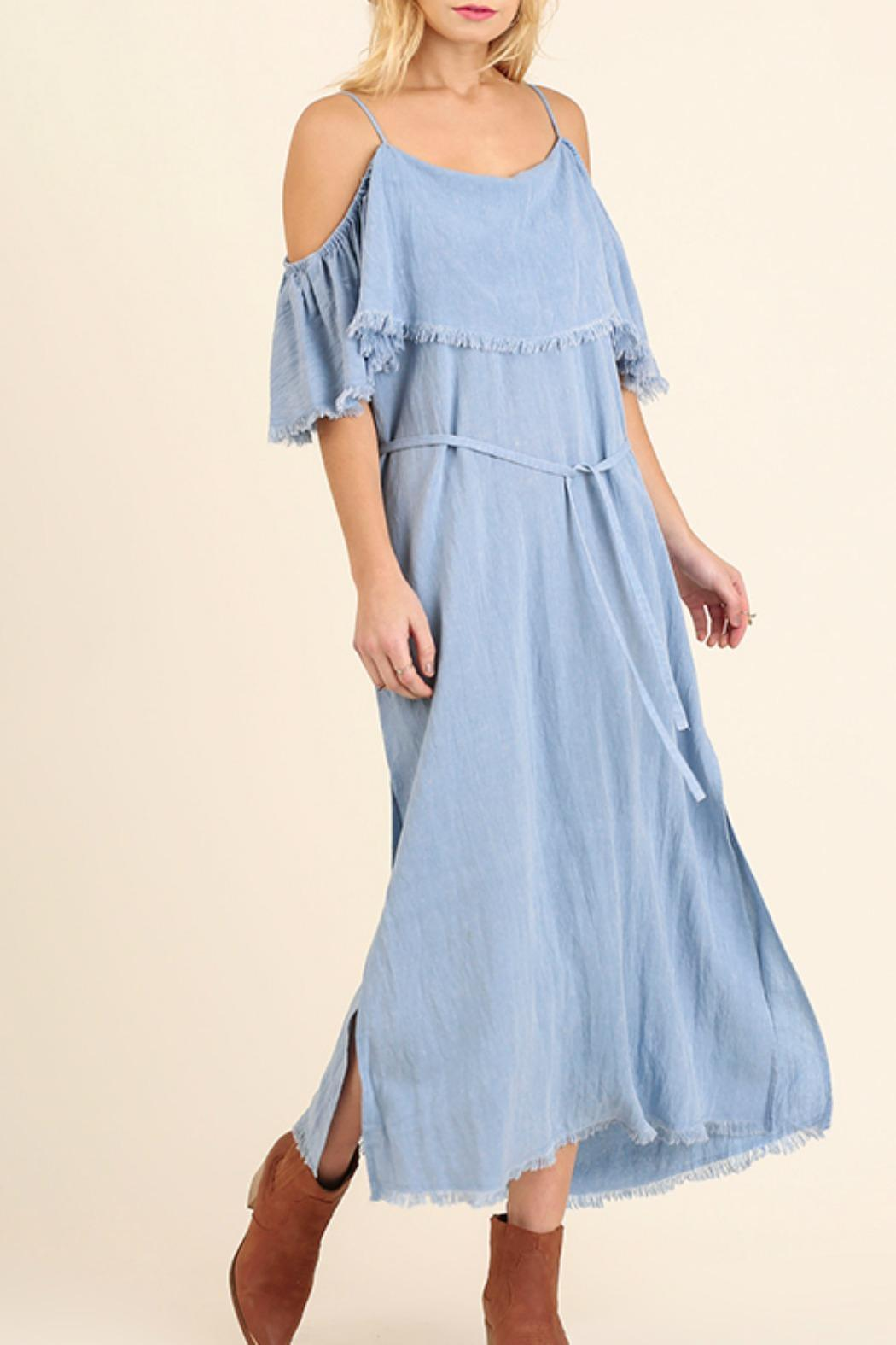 Umgee USA Cold Shoulder Maxi - Front Cropped Image