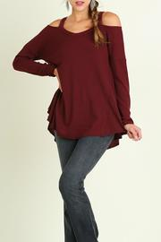 Umgee USA Cold Shoulder Style Top - Product Mini Image