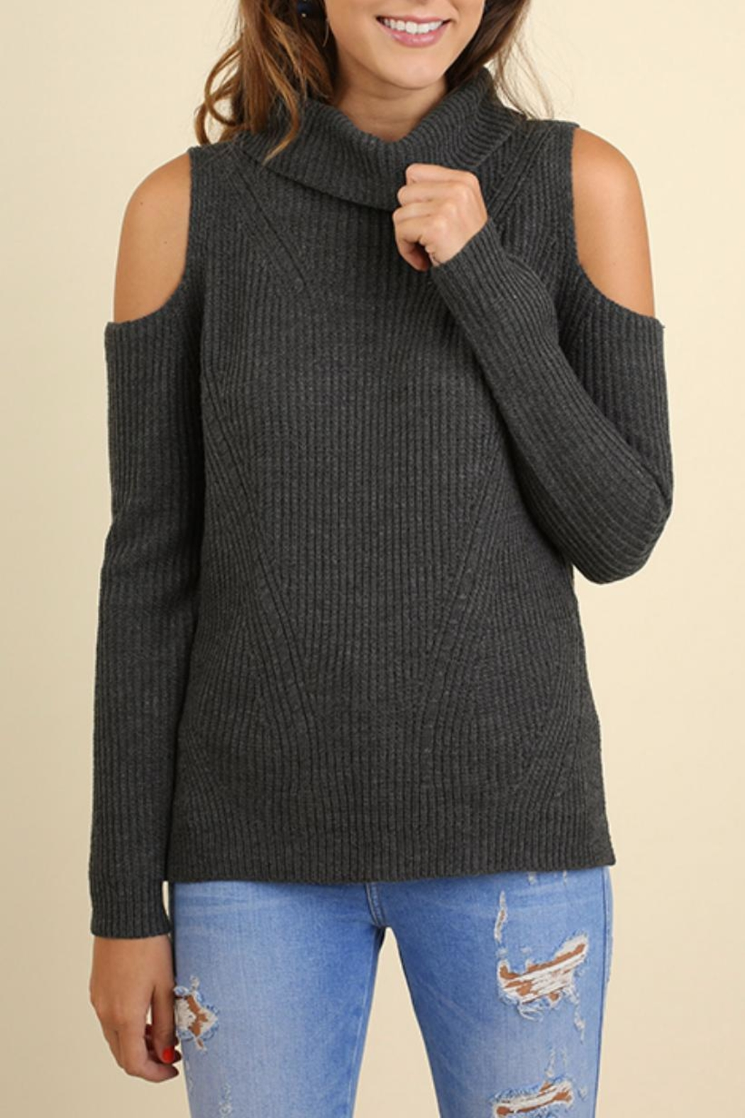 Umgee USA Cold Shoulder Sweater - Main Image