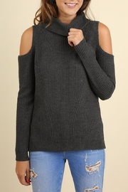 Umgee USA Cold Shoulder Sweater - Product Mini Image
