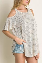 Umgee USA Cold Shoulder Tee - Product Mini Image