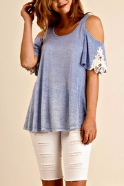 Umgee USA Cold Shoulder Top - Product Mini Image