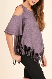 Umgee USA Cold Shoulder Top - Front full body