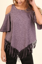 Umgee USA Cold Shoulder Top - Front cropped