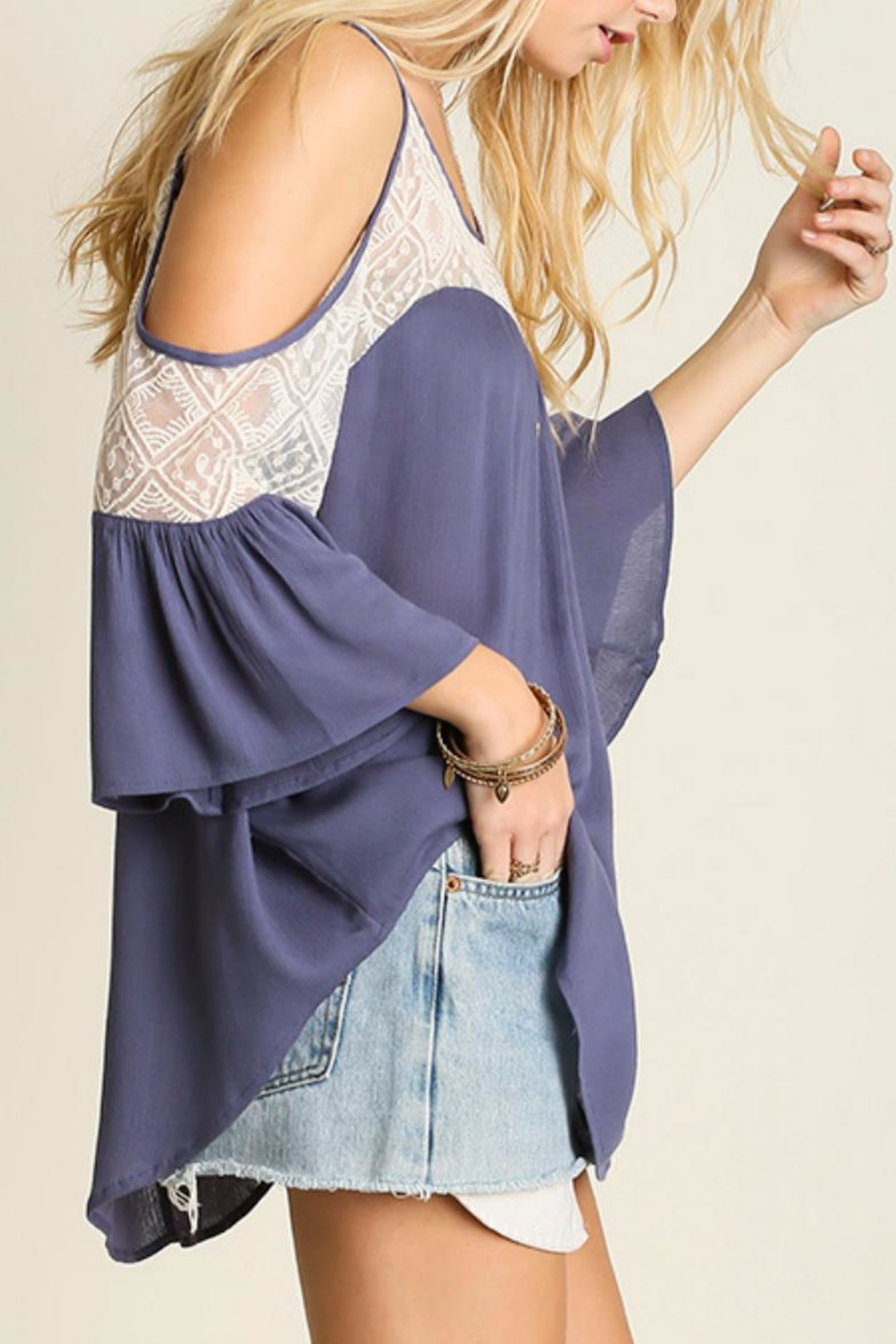 bda2b78bc6bf66 Umgee USA Cold Shoulder Top from Colorado by Rock N  Roses Boutique ...