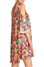 Umgee USA Cold Shouldered Dress - Front full body