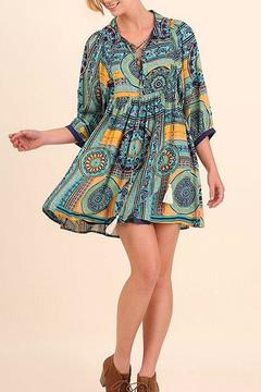 Shoptiques Product: Collared Print Dress