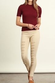 Umgee USA Colorful Distressed Jeggings - Front cropped