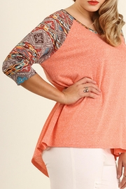 Umgee USA Coral Baseball Tee - Front full body