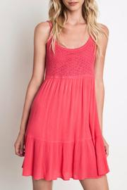 Umgee USA Coral Crochet Dress - Product Mini Image