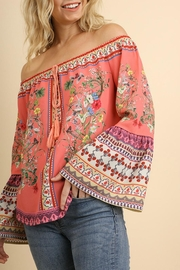 Umgee USA Coral Floral Stunner - Front cropped