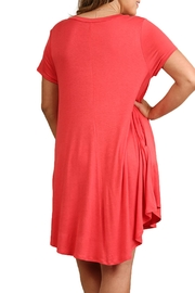 Umgee USA Coral T Shirt Dress - Front full body