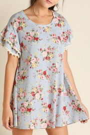 Umgee USA Cotton Floral Dress - Front cropped