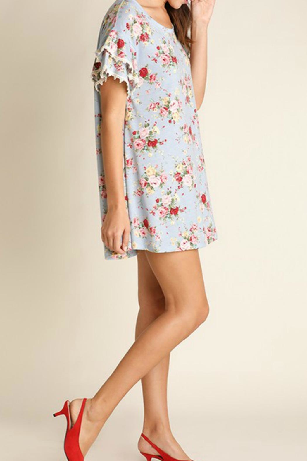 Umgee USA Cotton Floral Dress - Front Full Image