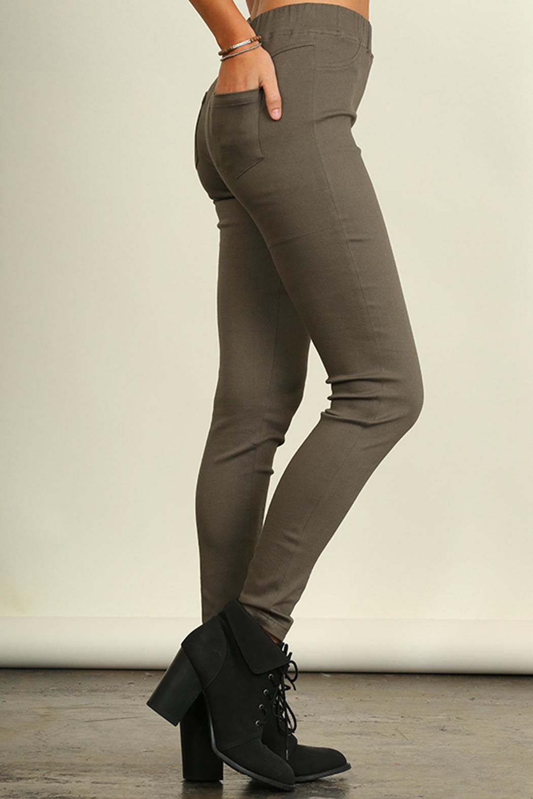 Umgee USA Cotton Stretch Pants - Front Full Image