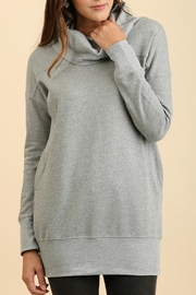 Umgee USA Cowl Neck Tunic Sweater - Front cropped
