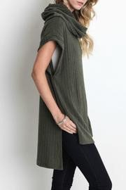 Umgee USA Cowl Neck Tunic - Front full body