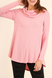 Umgee USA Cowl Ribbed Sweater - Front full body