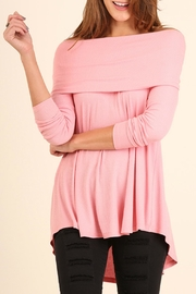 Umgee USA Cowl Ribbed Sweater - Front cropped