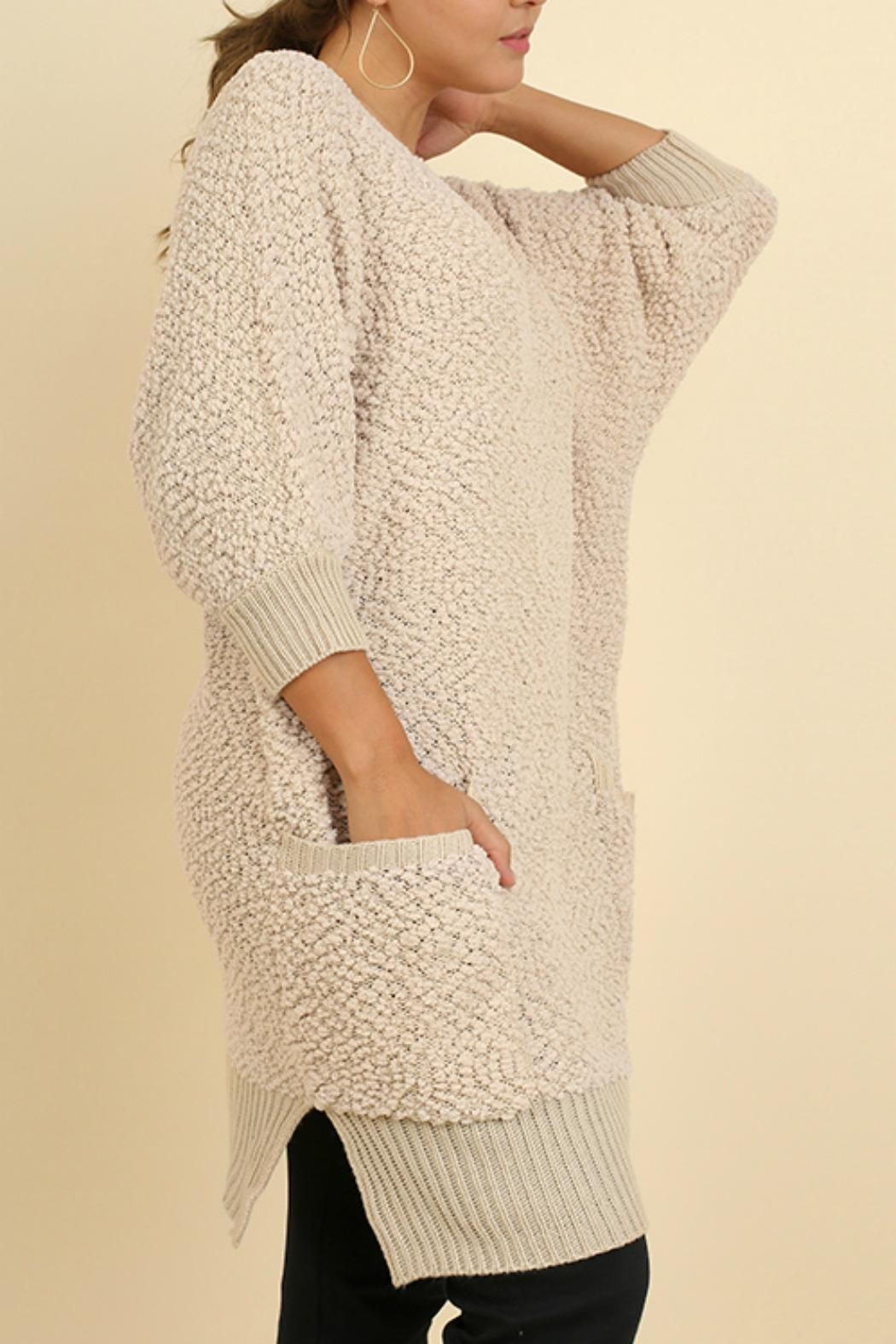 Umgee USA Cozy Bohemian Sweater - Front Full Image
