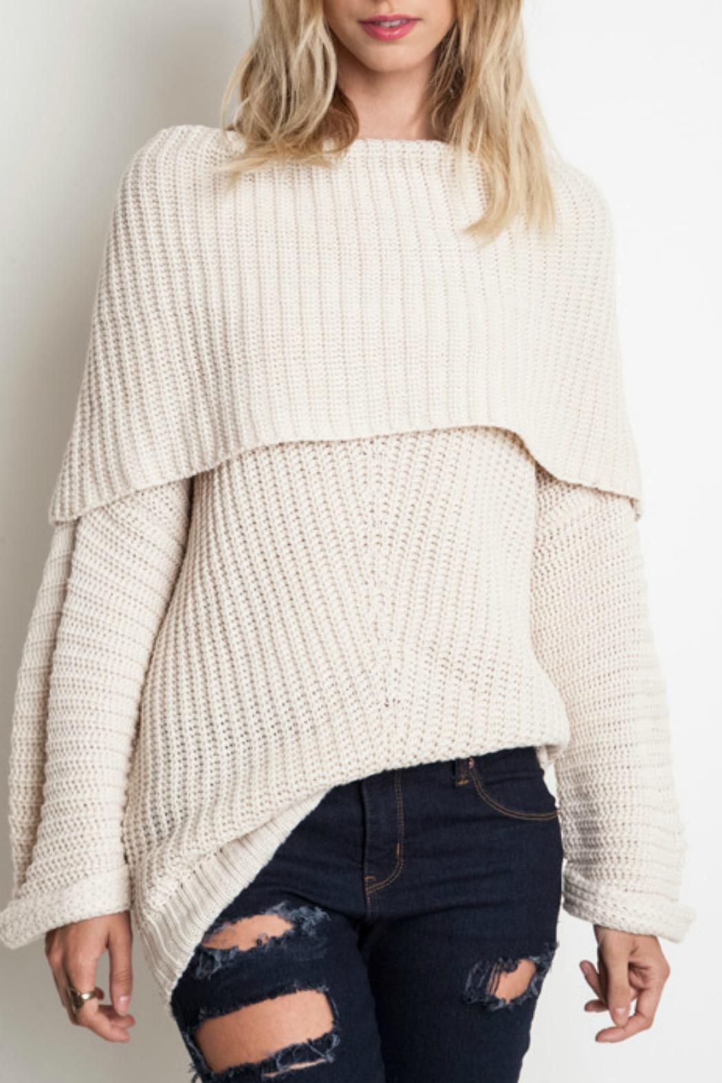 Umgee USA Cozy Ribbed Sweater - Front Cropped Image