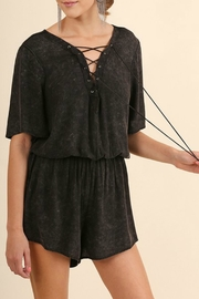 Umgee USA Criss Cross Romper - Front cropped