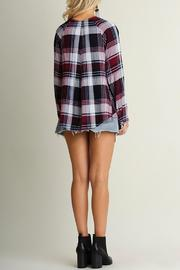 Umgee USA Crisscross Plaid Top - Side cropped