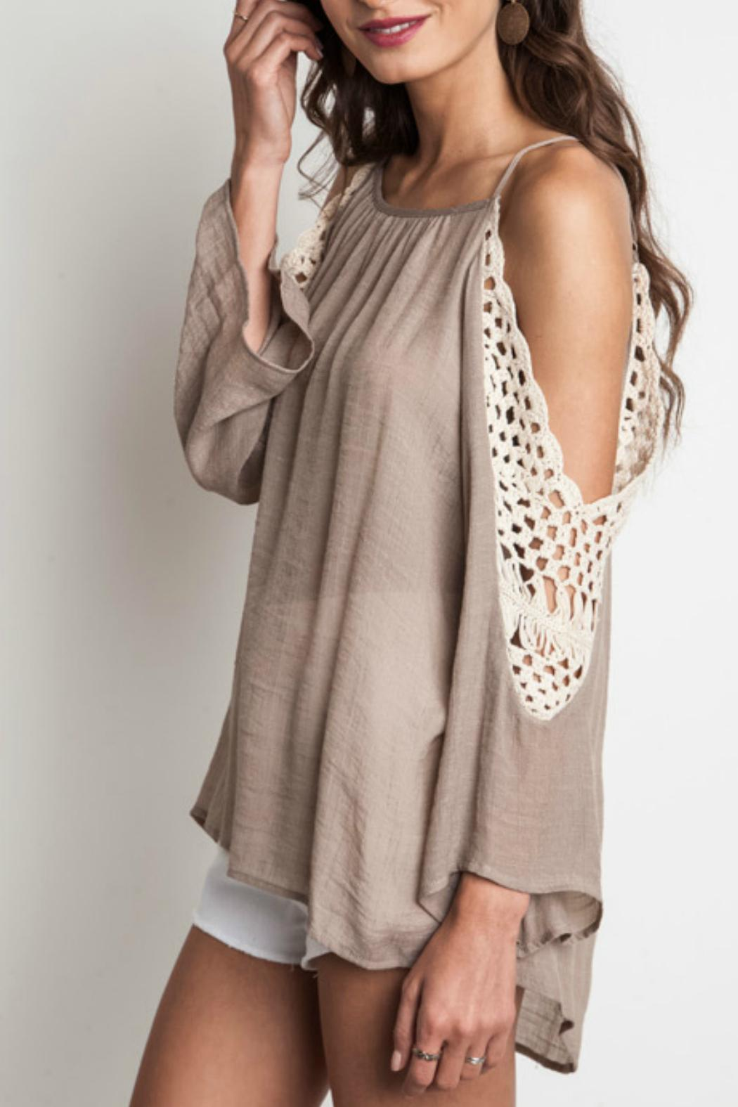 eaa885782c44ca Umgee USA Crochet Cold Shoulder Top from Montana by Foxwood Boutique ...