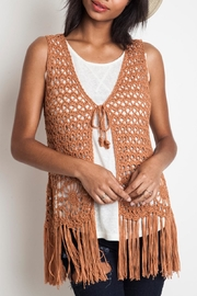 Umgee USA Crochet Fringe Vest - Product Mini Image