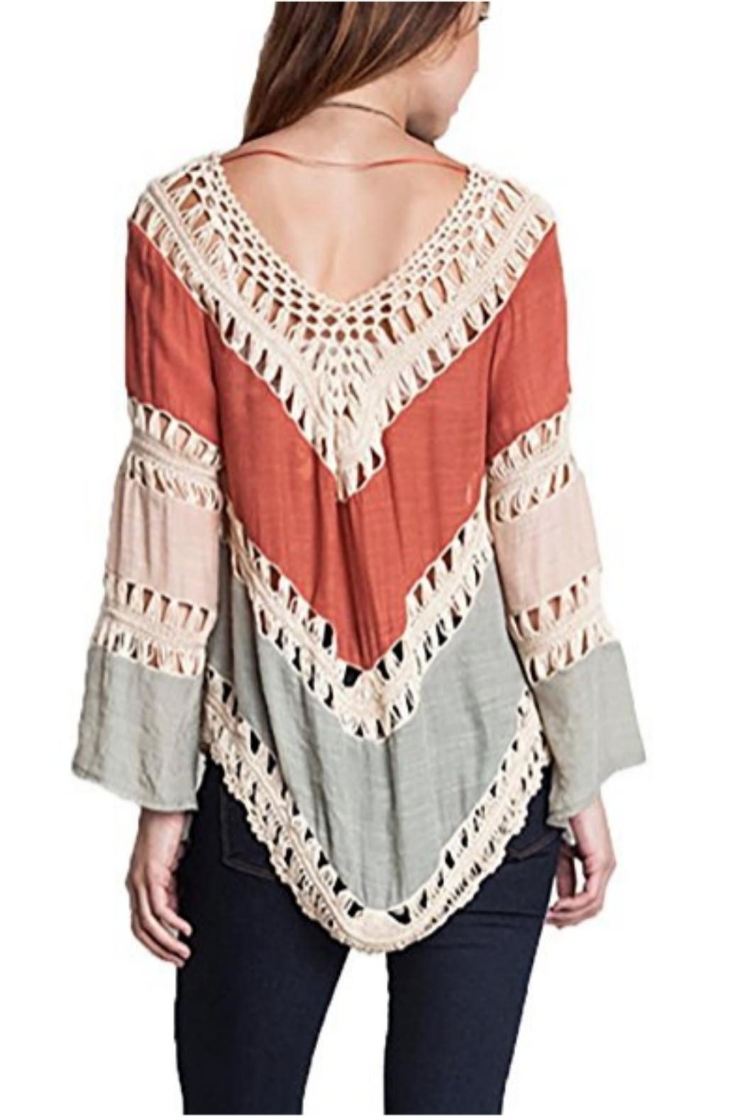 Umgee USA Crochet-Lace Color-Block Tunic - Front Full Image