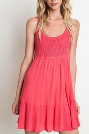 Umgee USA Crochet Tank Dress - Product Mini Image