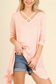 Umgee USA Cross Neckline Top - Product Mini Image