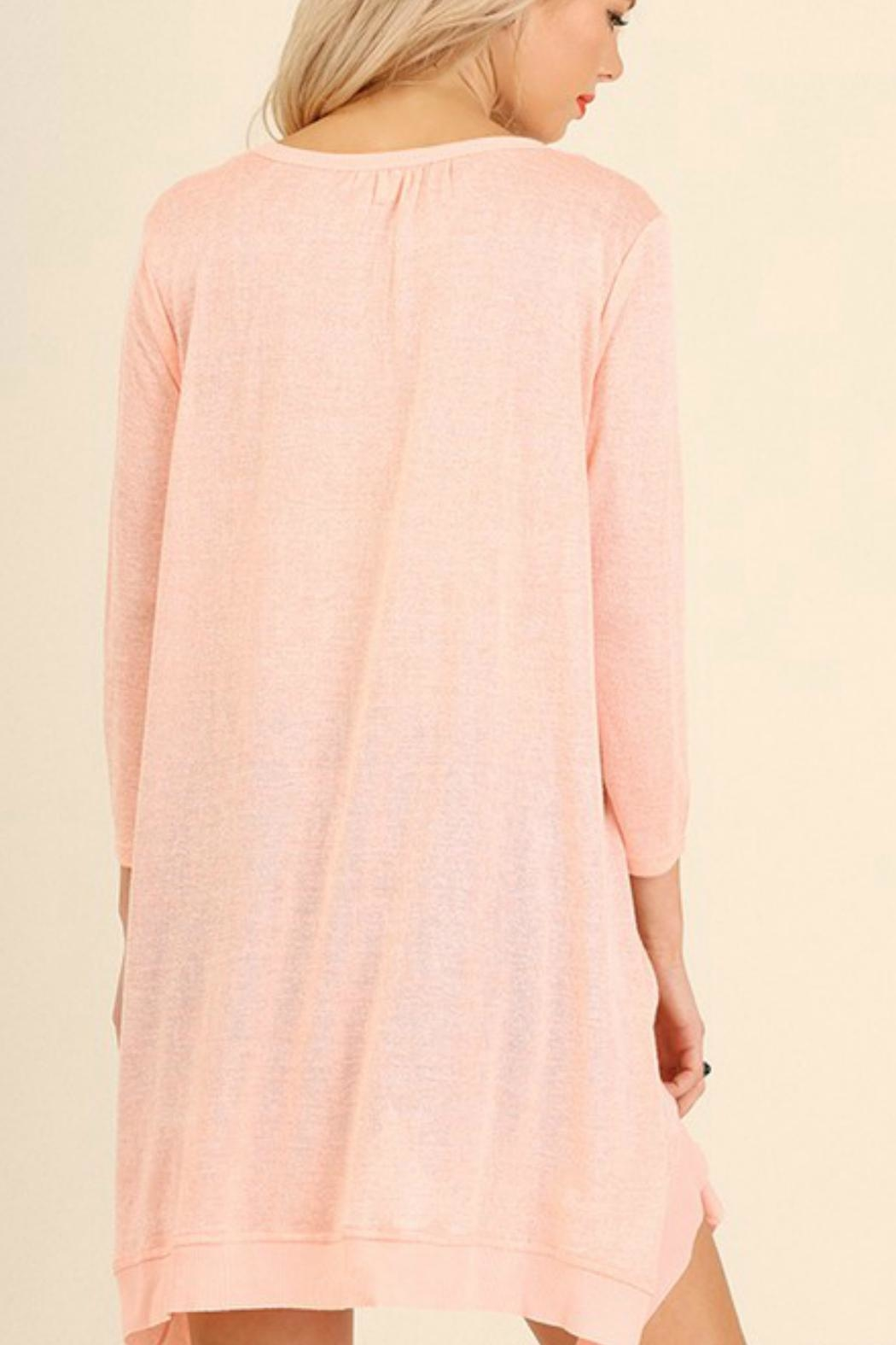 Umgee USA Cross Neckline Top - Front Full Image