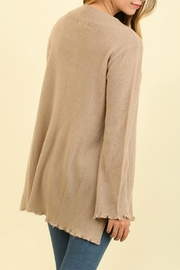 Umgee USA Curly Hemmed Sweater - Back cropped